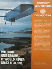 12/1990 PUB AEROSPATIALE APACHE CRUISE MISSILE MATRA DEFENSE ORIGINAL AD