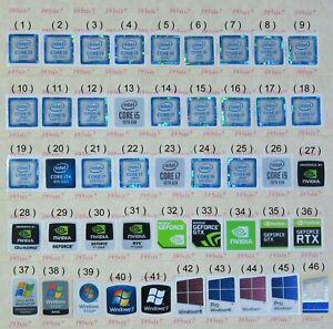 intel Core i3 i5 i7 Sticker (6th 7th 8th 9th 10th Gen) OS sticker Nvidia Sticker