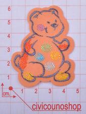 MARBET Toppe Termoadesive - Patch Adesiva - Toppa modello orsetto arancio - Art.