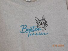 New Boston Terrier Embroidered T-Shirt
