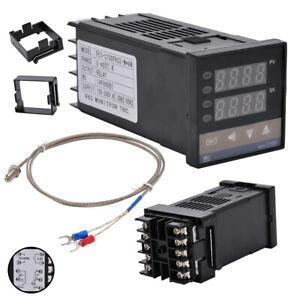 PID Digitales Temperaturregler REX-C100 mit K Thermoelement SSR Ausgang 220v DE