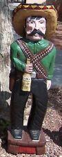 4'-5' & 6' Bandito w/Whiskey Bottle GUN Cigar Store Indian Sculpture F.Gallagher