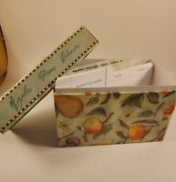 Martin Designs Recipe Box with cards and dividers 2003 Fruit