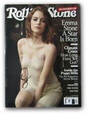 Emma Stone Signed Autographed Rolling Stone Magazine 2017 January Sexy GV876749