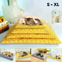 Pet Cat Dog Sleeping Bed Mat Pillow Cushion Washable Mattress Blanket Kennel Pad