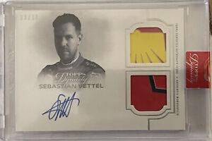 2020 Topps Dynasty Formula 1 Sebastian Vettel dual relic auto /10 Ferrari