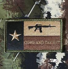 TEXAS STATE FLAG COME AND TAKE IT USA ARMY MORALE TACTICAL FOREST VELCRO PATCH