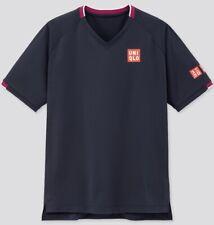 Uniqlo Size Medium Roger Federer Tennis Shirt BNWT Australian Open 2020 Navy