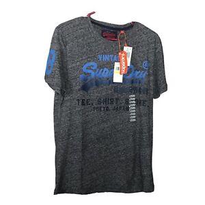 New Mens Superdry  Osaka All Over Print Lite T-Shirt Ultra Royal Grit