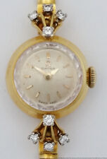 22.7g 18k Gold Diamond Mid Century Omega Ladies Watch Smaller Wrist
