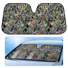 Green Forest Camouflage Auto Sunshade for Car Truck SUV Windshield UV Protection