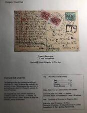1942 Vianen Netherlands Postcard Cover To Rakospalota  Hungary Postage Due