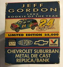 "1993 BROOKFIELD #24 JEFF GORDON ""ROOKIE OF THE YEAR"" DIE CAST BANK  #3058"