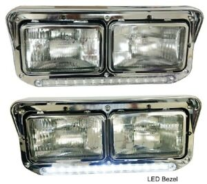 New LED Headlight & LightStrip PAIR FOR Kenworth Western Star 4900