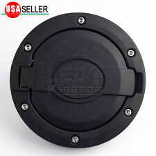 Unlimited Black Matte Fuel Gas Cap Cover Tank Door For 07-18 Jeep Wrangler JK