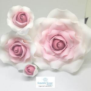 SUGAR ROSES WEDDING BIRTHDAY CAKE TOPPER FLOWER DECORATION *MULTI BUY PAY 1 P&P
