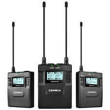 COMICA CVM-WM300 Metal Wireless Mono/Stereo Lavalier Microphone for DSLR Camera