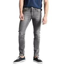Levis Lo-Ball Stack Slim Tapered Jeans Mens 34 x 35 Grey Denim Stretch NWT $89