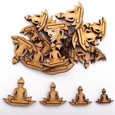 Wooden MDF Shapes Crafts Buddha Lotus Scrapbook Embellishments Card Decoration