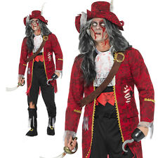 Zombie Pirate Captain Costume Halloween Scary Evil Adult Mens Fancy Dress Outfit