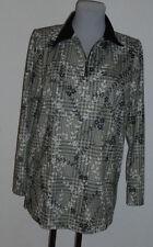 Damenbluse  Gr.40   neu    langer Arm     schwarz/weiß   Polyester     Nr.5727
