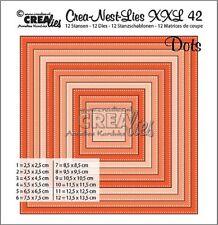 Crealies Crea-nest-Lies XXL no. 42 Squares with dots  Cutting Dies