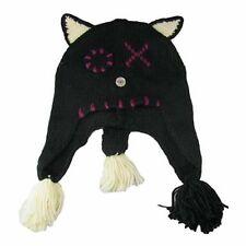 NWT American Rag Classic Black Cat Wool Blend Tassel Winter Hat $28 RETAIL