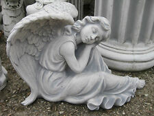 ENGEL XL Steinfigur massiv 60 cm 45 kg Grabengel Schutzengel groß Statue Figur