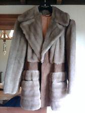 Faux Fur & Suede Genuine 1960's Vintage Womens Coat (Size 12)