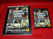 Grand Theft Auto: San Andreas Playstation 2 PS2 Complete & Brady Strategy Guide