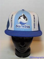 Vintage 1980s SEA WORLD San Diego Shamu SeaWorld ADVERTISING Snapback Hat Cap