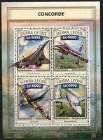 SIERRA LEONE 2016  CONCORDE  SHEET  MINT NH
