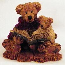 Boyds Bears Ted & Teddy Figurine Reading A HIstory Book # 2223 1994