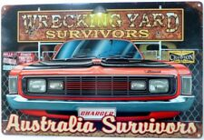 WRECKING YARD SURVIVORS VALIANT CHARGER AUSTRALIAN MUSCLE All Weather Sign