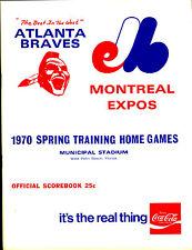 1970 Spring Training Program at Atlanta Braves EXMT