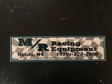 M/R Racing Equipment decal sticker safety simpson NASCAR ARCA USAC IMCA cars