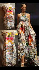 ❤️GIANNI Versace Spring 2009 in Milan,PAINTED DRESS size 42,US 9