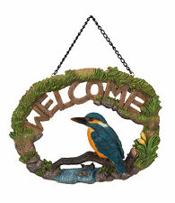 Vivid Arts - HANGING WELCOME SIGN HOME GARDEN - Kingfisher