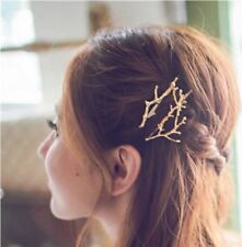 GOLD Tree Branch Hair Clip Jewellery Wedding Boho Goth Punk Hair pin Bridesmaid