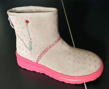 Details about UGG Classic Mini Wisp Cuff Pink Dawn Suede Sheepskin Ankle Boots Size 9 Womens