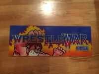 Wrestle Wars Video Arcade Game Marquee, Sega 1989