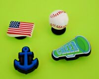 Crocs Jibbitz Charms *3-D Baseball-Anchor-Flag-Megaphone *ALL 4 for $8.99 NEW
