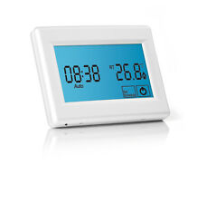 Touchscreen Programmable Thermostat for Electric Underfloor Heating - White