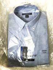 Ivy Crew Men's Short Sleeve Dress Shirt Size M 15-15 1/2 Light Blue Easy Care