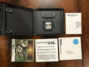 Front Mission (Nintendo DS, 2007) Complete In Box With Instructions And Inserts