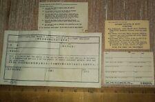 Vintage Lot Military forms Usmc Liberty Req Us Forces Japan transit etc.ephemera