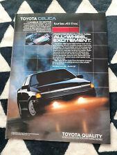 1988 Toyota Celica All TracTurbo Sport Coupe USA Original Magazine Advertisement