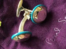 Paul Smith Cufflinks –Sterling Silver with light blue ceramic detail Cufflinks