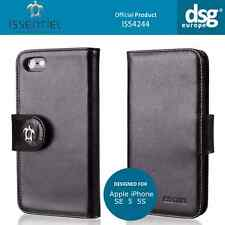 Issentiel Paris - Genuine Leather Folio Wallet Case for iPhone 5S 5 SE - Black