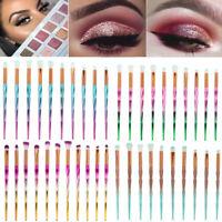 10pcs Rainbow Makeup Brushes Set Eye Shadow Eyebrows Eyelashes Brush Soft Brush.